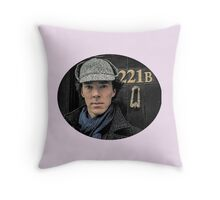 Sherlock Holmes, Benedict Cumberbatch, 221B Baker Street Throw Pillow
