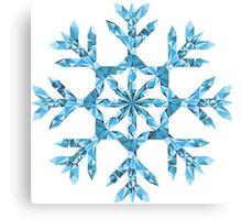 Polygonal Snowflake Canvas Print