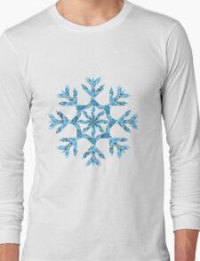 Polygonal Snowflake Long Sleeve T-Shirt