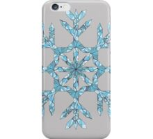 Wireframe Polygonal Snowflake iPhone Case/Skin