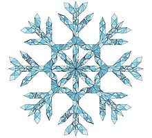 Wireframe Polygonal Snowflake by creativenergy