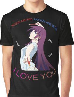 Senjougahara Roses Are Red Anime Shirt Graphic T-Shirt