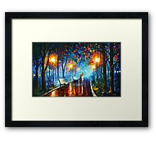 MISTY MOOD - Leonid Afremov Framed Print