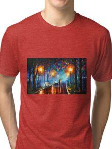 MISTY MOOD - Leonid Afremov Tri-blend T-Shirt