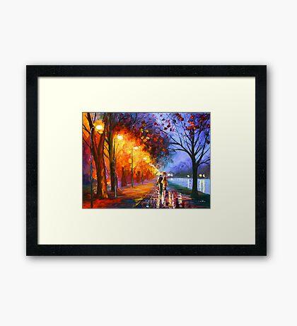 ALLEY BY THE LAKE - Leonid Afremov Framed Print