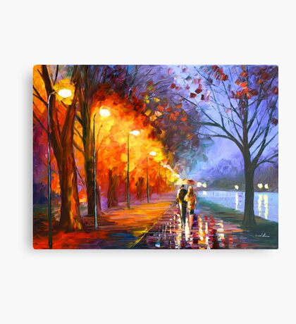 ALLEY BY THE LAKE - Leonid Afremov Metal Print