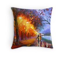 ALLEY BY THE LAKE - Leonid Afremov Throw Pillow