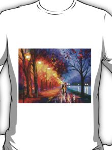 ALLEY BY THE LAKE - Leonid Afremov T-Shirt