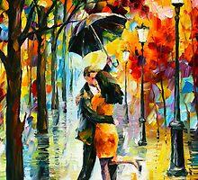 DANCE UNDER THE RAIN - Leonid Afremov by Leonid Afremov