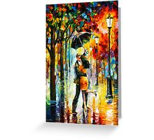 DANCE UNDER THE RAIN - Leonid Afremov Greeting Card