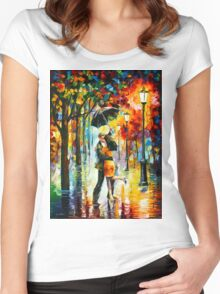 DANCE UNDER THE RAIN - Leonid Afremov Women's Fitted Scoop T-Shirt