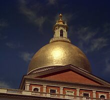 State House Dome > by John Schneider