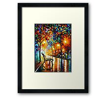 THE LONELINESS OF AUTUMN - Leonid Afremov Framed Print