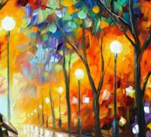 THE LONELINESS OF AUTUMN - Leonid Afremov Sticker