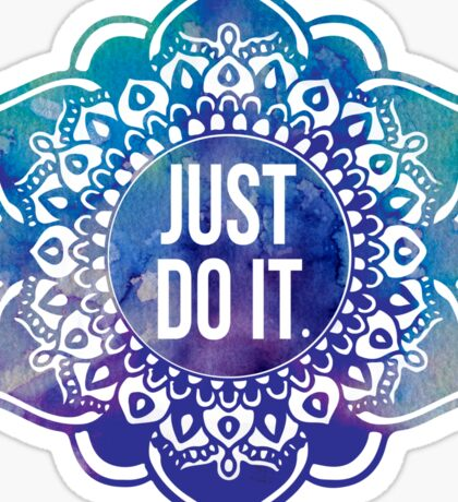 Just Do It Nike Mandala Sticker