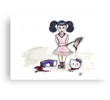 Little Miss Hatchet  Canvas Print