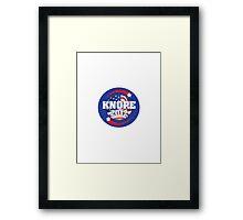 Knope 2012 Framed Print