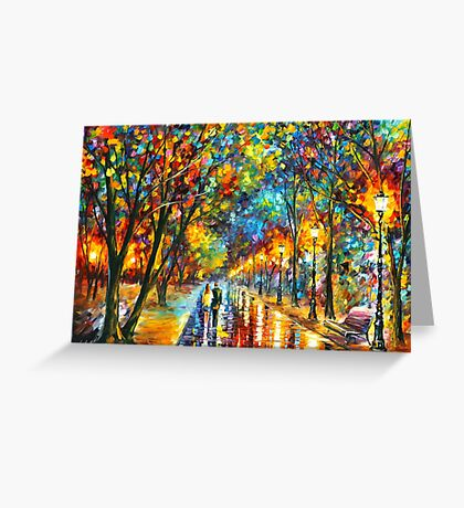 WHEN THE DREMS CAME TRUE - Leonid Afremov Greeting Card