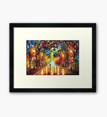 FAREWELL TO ANGER - Leonid Afremov Framed Print