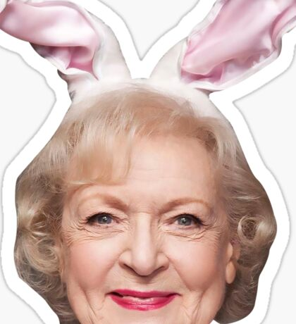 Bunny White, America's Sweetheart Sticker