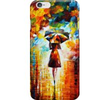 rain princess - Leonid Afremov iPhone Case/Skin