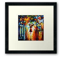 rain princess - Leonid Afremov Framed Print