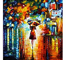 rain princess - Leonid Afremov Photographic Print