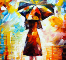 rain princess - Leonid Afremov Sticker