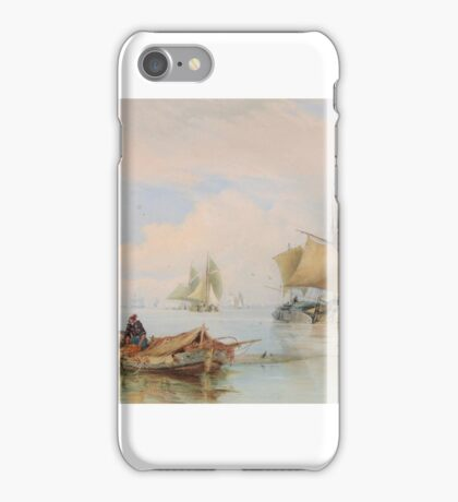 Thomas Sewell Robins () Shipping on the estuary, iPhone Case/Skin