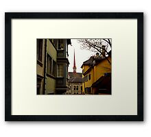 Colour in Zurich Rennweg Framed Print