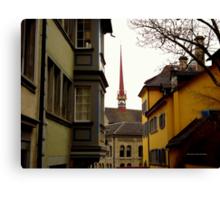 Colour in Zurich Rennweg Canvas Print