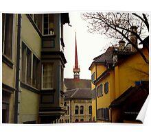 Colour in Zurich Rennweg Poster