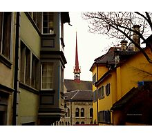 Colour in Zurich Rennweg Photographic Print