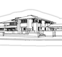 Darwin Martin House in Black & White Sticker
