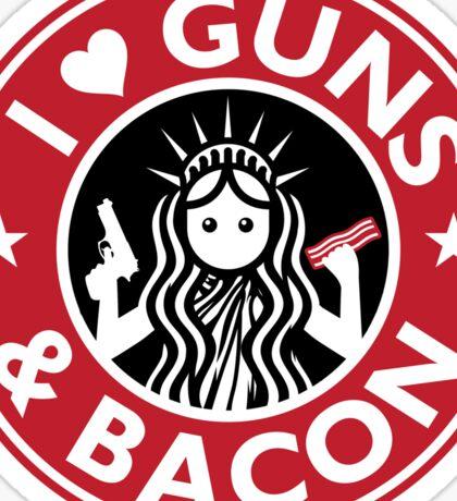 I Heart Guns and Bacon Star Love Bucks Sticker