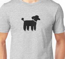 Black Poodle Unisex T-Shirt