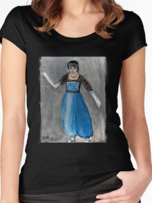 Modeling Her New Harem Outfit Women's Fitted Scoop T-Shirt