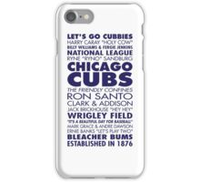 cubs chicago iPhone Case/Skin