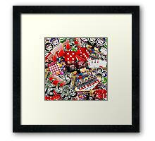 Gamblers Delight - Las Vegas Icons Background Framed Print