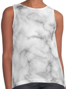 White Marble #redbubble #lifestyle Contrast Tank