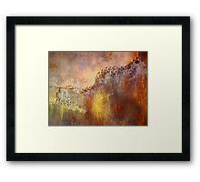 Crystal Pearls (Rainbow Petrified Wood) Framed Print