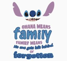 STITCH - Ohana Means Family Kids Clothes