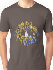 Gold Saints and Athena Unisex T-Shirt