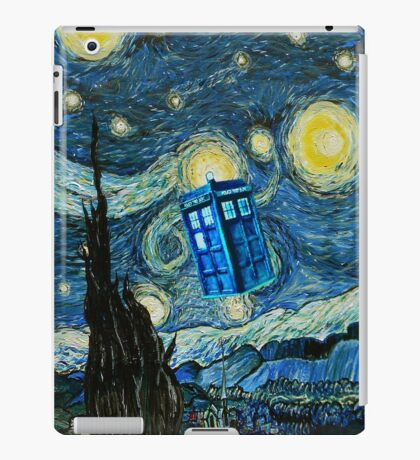 British Blue phone box painting iPad Case/Skin