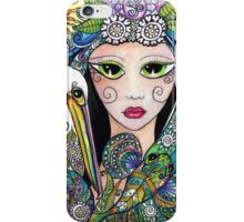 Mermaid & Her Tattooed Pelican by Sheridon Rayment iPhone Case/Skin