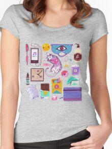 Stress-Relief Kit T-shirt femme moulant à col profond