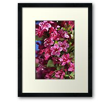 Happy Small Pink Flowers Framed Print