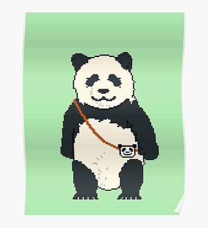 8-bit Panda Poster