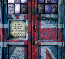 British Union Jack Space And Time traveller Sticker