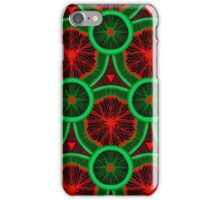 red and greenery kivi pattern iPhone Case/Skin